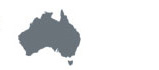 Small shape of Australia with tagline