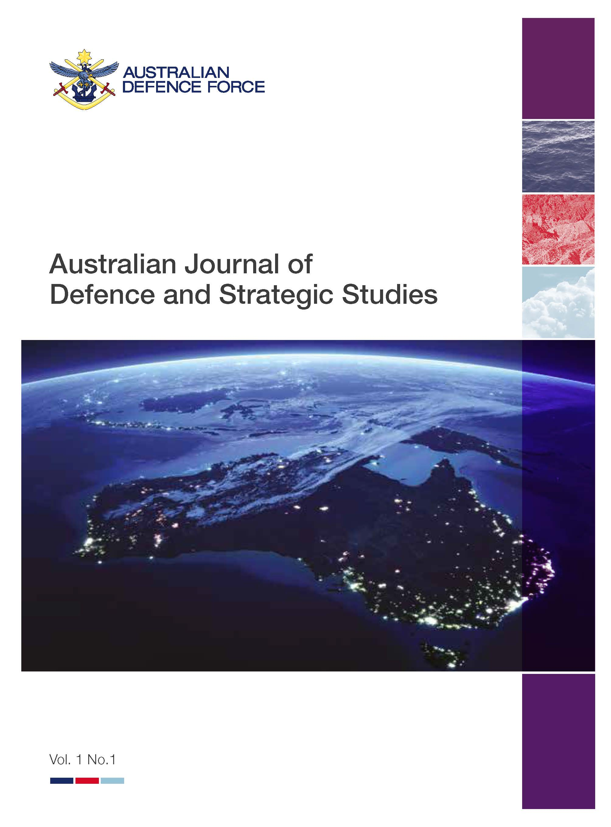 cover of the Australian Journal of Defence and Strategic Studies AJDSS Volume 1 Number 1 - 
